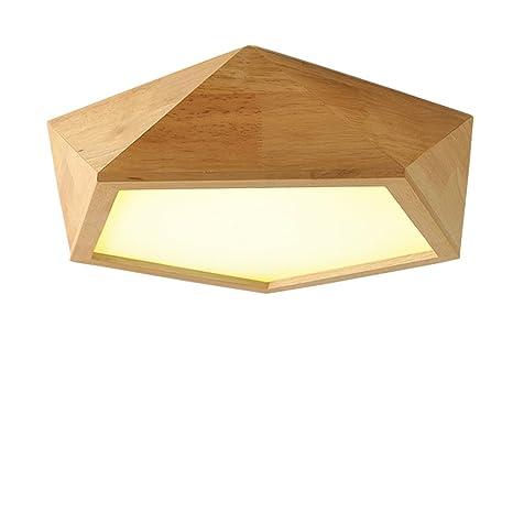 Lámpara de techo Lámpara de techo de madera estilo nórdico ...