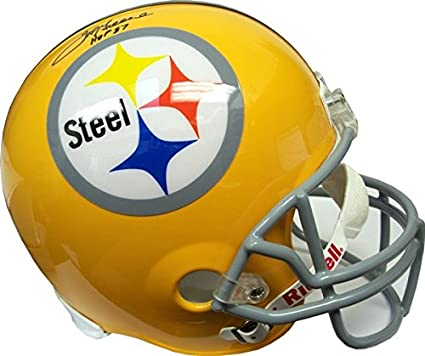 df514739d9f Joe Greene HOF Autographed Pittsburgh Steelers Gold Full-Size Helmet - JSA  COA