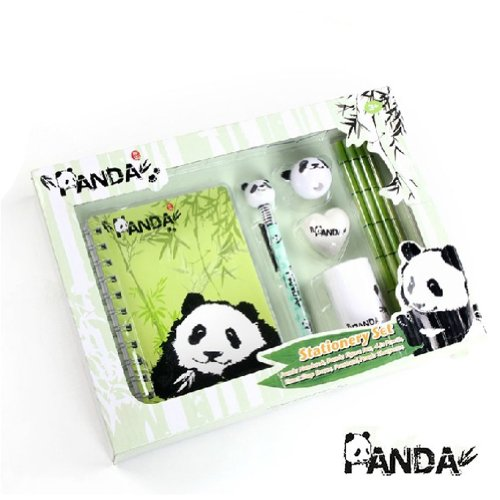 Cute Panda Pencils Includes 6 Different Type Supplies Perfect for Kids