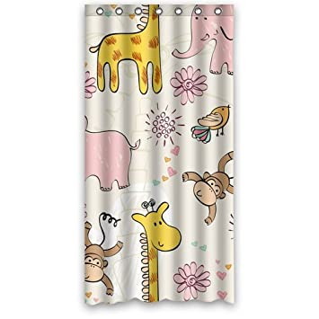 High Quality And New Fashion Elephant Monkey Shower Curtain 36quot