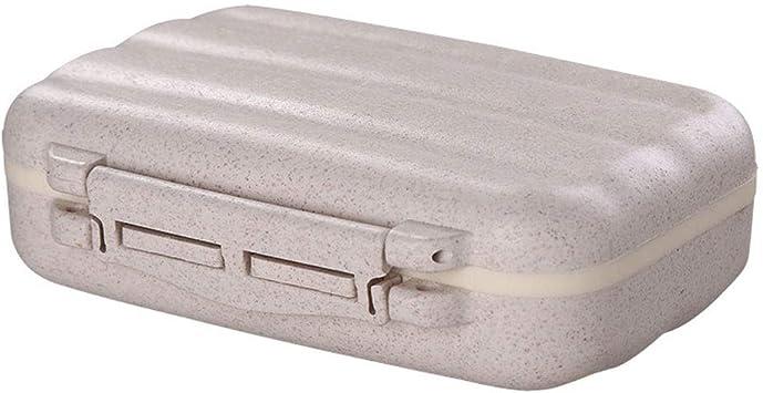 Caja organizadora de almacenamiento de medicamentos para pastillas, 1 caja de almacenamiento de plástico para uso diario y de viaje.: Amazon.es: Salud y cuidado personal