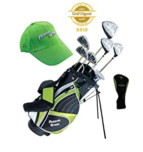 Paragon Rising Star Kids Golf Clubs Set / Ages 8-10 Green With Free Gift / DELUXE Right-Hand