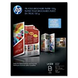 Wholesale CASE of 10 - HP Trifold Brochure Paper-Brochure Paper,40 lb.,97 Bright.,8-1/2''x11'',150/PK,Glsy,WE