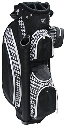 rj-sports-lb-960-ladies-cart-bag-with-3-pack-head-covers-9-houndstooth