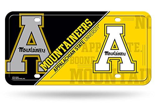 Yellow on Black Rico NCAA Iowa Hawkeyes Metal License Plate
