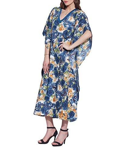 ShalinIndia - Vestido - para mujer Mehrfarbig 9