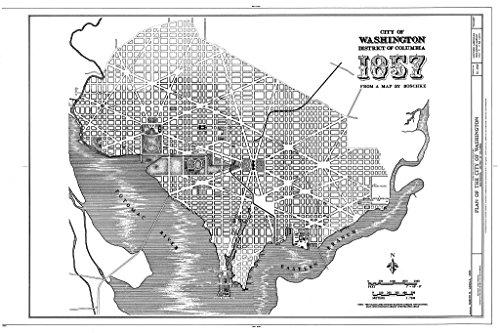 Blueprint Diagram HABS DC,WASH,612- (Sheet 7 of 32) - L'Enfant-Mcmillan Plan of Washington, DC, Washington, District of Columbia, DC 12in x 08in