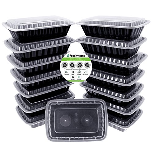 Freshware 15 Pack Compartment Bento Lunch