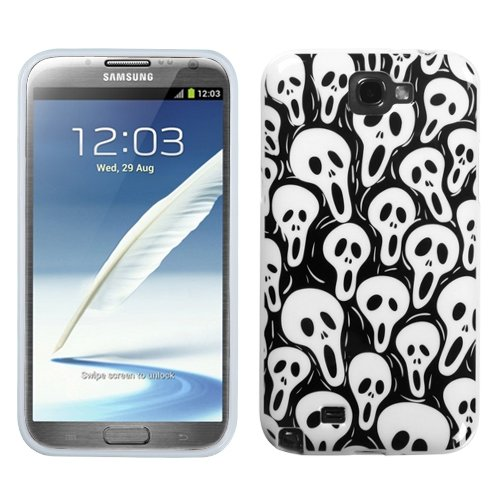 - Asmyna SAMGNIICASKCAIM949NP Premium Slim and Durable Protective Cover for Samsung Galaxy Note 2 - 1 Pack - Retail Packaging - Screaming Ghosts