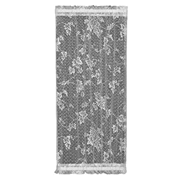 Heritage Lace English Ivy 24-Inch Wide by 72-Inch Drop Sidelight Panel, White
