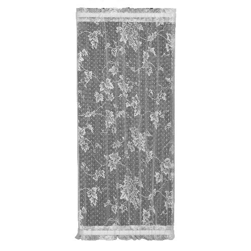 Heritage Lace English Ivy 24-Inch Wide by 63-Inch Drop Sidelight Panel, White ()