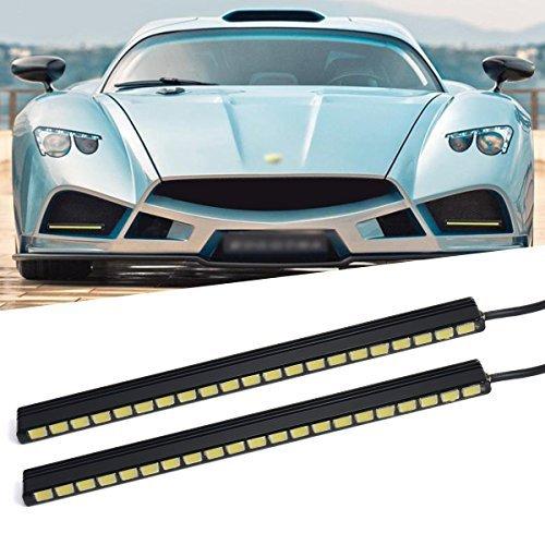 XCSOURCE 2x 9 LED Waterproof Car Daytime Running Light DRL Fog Driving Lamp Bright White 12V MA136