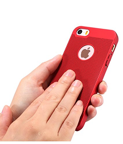 pour iPhone Premium Respirant Case Surface Ultra Mince iPhone Or Dsign Lgre Case iPhone Vanki Rose 5 5S Lisse Coque Mesh Matte SE wTCOAgUq