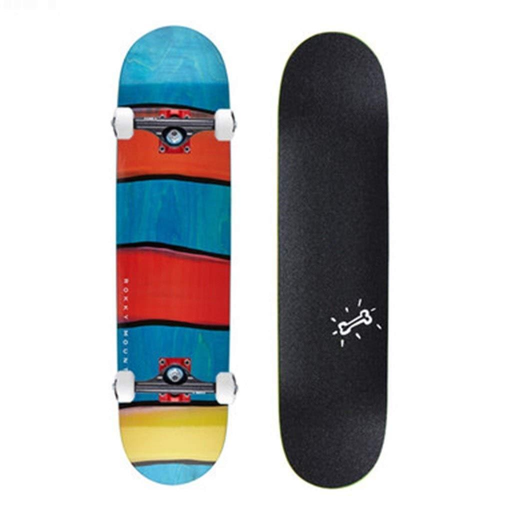 スケートボード スケートボードプロフェッショナルダブルワーピングボードスタントアクション四輪スケートボード男の子と女の子初心者スケートボードギフト (Color : 黒, Size : 80*20*13cm) 黒 80*20*13cm