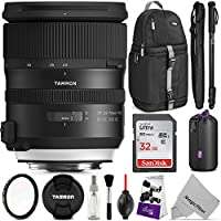 Tamron SP 24-70mm f/2.8 Di VC USD G2 Lens for CANON EF w/Advanced Photo and Travel Bundle