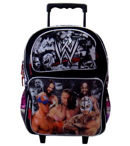WWE Large Rolling Backpack (School Rolling Backpack) by Toys One