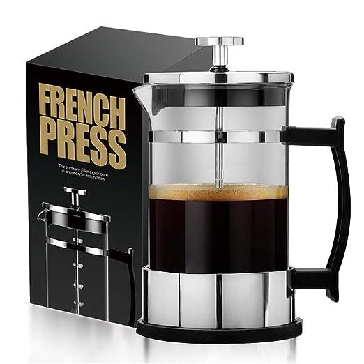 HwaGui Cafetera de Émbolo Francesa 0.6L Acero Inoxidable Filtro ...