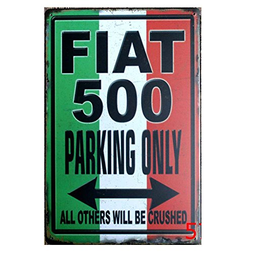 fiat-500-parking-only-tin-sign-retro-vintage-decor-metal-sign-bar-decoration-12x-8-inches