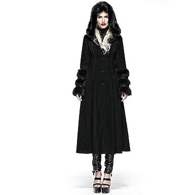 a998238a8 PUNK Gothic Lolita Style Woolen Fur Coat Steampunk Autumn Winter ...