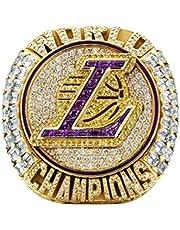 2020 NBA Lakers Championship Ring basketbal James 9-13 size Fan souvenirs replica beweging Ring Verwijderbaar met houten doos verjaardagscadeau