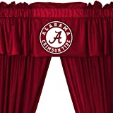 NCAA Alabama Crimson Tide - 5pc Jersey Drapes Curtains and Valance Set