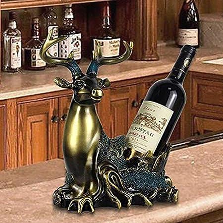 Estante De Vino Estante De Botellas Estante De Vino Estante De Almacenamiento Decoración De Resina Alce Estante De Vino Gabinete De Vino Joyería Artesanal Decoración Del Hogar Regalo Vinotecas