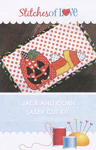 Jack and Corn Halloween Mug Rug Laser Cut Kit With -