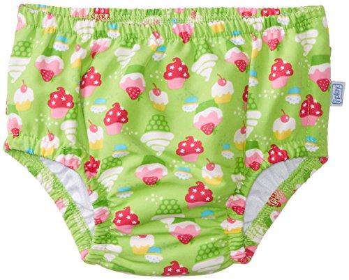 i play. Baby Girls' Ultimate Snap Ruffle Swim Diaper Classic, Lime, 3 4 Years