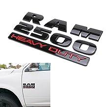 (2) Glossy Black Finish Side Door 3D Letters/Emblem For Dodge RAM 2500 Heavy Duty