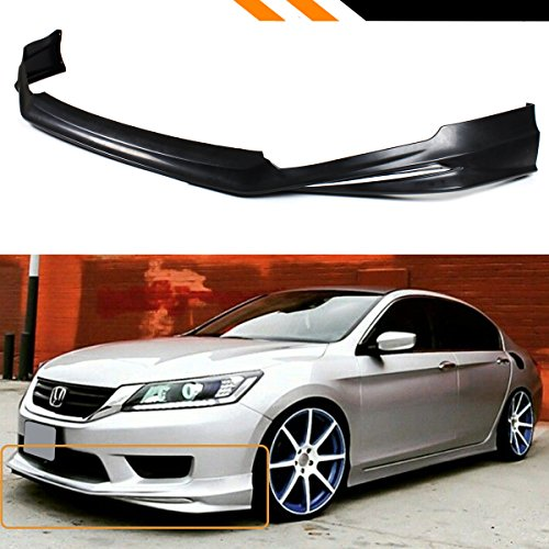 Fits for 2013-2015 Honda Accord 4 Door Sedan JDM Style Front Bumper Chin Lip Splitter W/Chrome Accent Trim