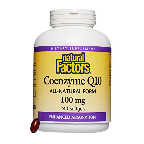 - Natural Factors - Coenzyme Q10 100mg, Antioxidant Support to Protect Against Free Radical Damage, while Promoting Cellular Energy Production and Heart Health, 240 Softgels