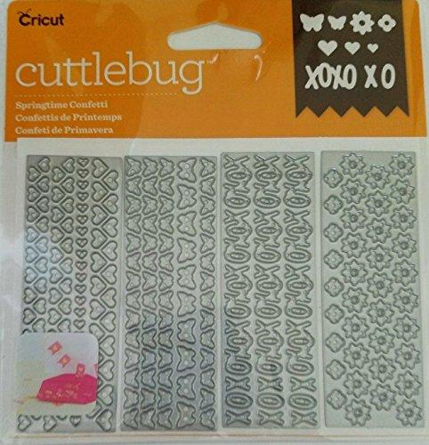Cricut Cuttlebug Springtime Confetti 4 assorted Cut & Emboss Dies Cuttlebug Dies
