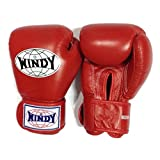 Auth Windy Muay Thai Gloves Kickboxing K1 Windy Boxing Gloves Leather Red BGVH - 6,8,10,12,14,16,18 Oz (14oz)