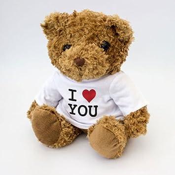 New i love you teddy bear cute and cuddly present gift amazon new i love you teddy bear cute and cuddly present gift voltagebd Gallery