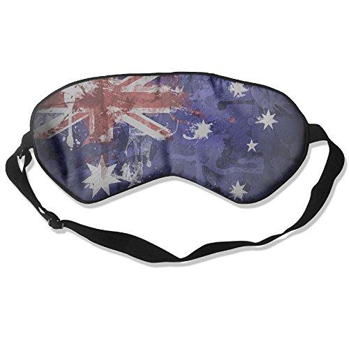 Longnankejilifeaa Sleep Eyes Mask Covers Retro Australia Flag Silk Sleeping Blindfold Fashion Adjustable Strap Eyeshade For Travelling Shift Work Night Noon Nap Yoga