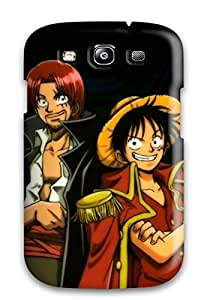 Flexible Tpu Back Case Cover For Galaxy S3 - Shanks And Luffy Desktop