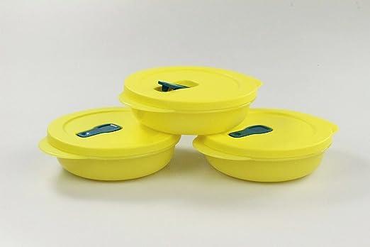 Tupperware Microondas crystalwave 400 ml (3) Amarillo Micro ...