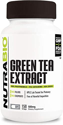 NutraBio Green Tea Extract 500 mg 150 Capsules