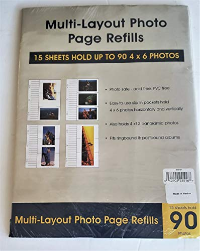 Genuine Holson/Burnes 4x6 Tri-Channel flex pages for Post-bound and 2 or 3 ring albums Our price is for 3 units - 4x6 reviews