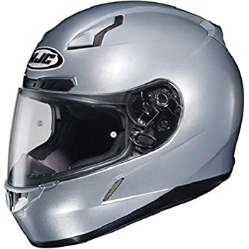 HJC 824-574 CL-17 Full-Face Motorcycle Helmet (Silver, Large)