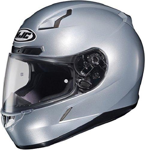 HJC CL-17 Full-Face Motorcycle Helmet (Silver, XX-Large)