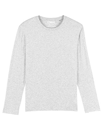 Herren Langarmshirts mit Rundhals aus 100% Baumwolle (Bio), Männer Bio Langarm Shirts, Herren Bio Longsleeves aus Organic Cotton