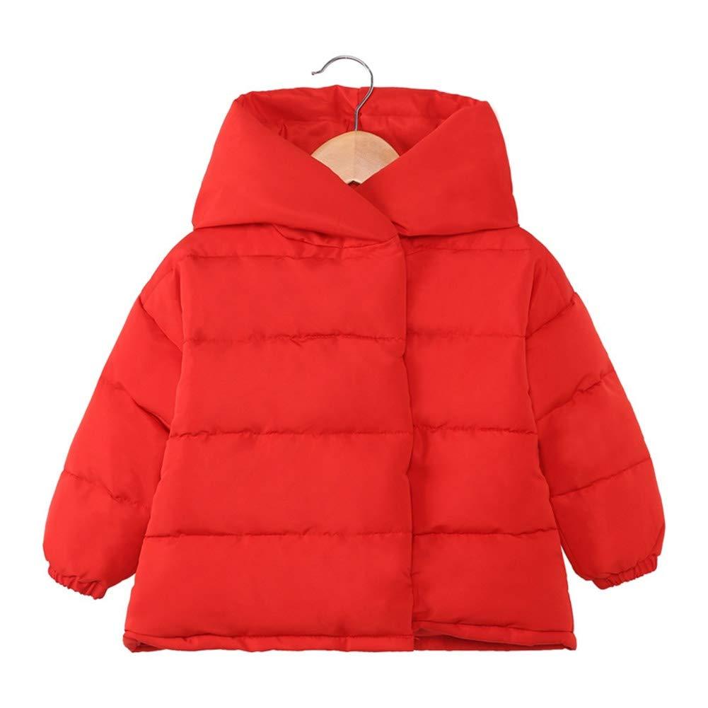 rouge 90cm YZ-HODC Doudoune bébé à Capuche imprimée Filles Courtes Doudoune Enfant modèles 90130cm, Deux Couleurs en Option