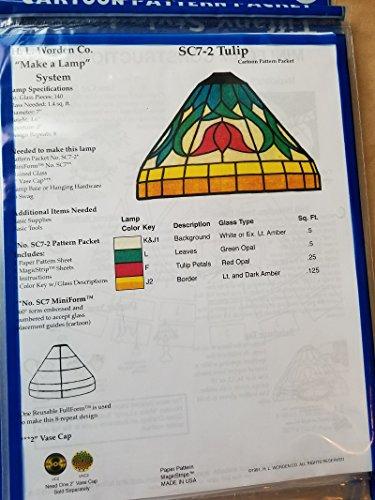 7 Inch Worden SC7 Tulip Pattern for Lamp Making ()
