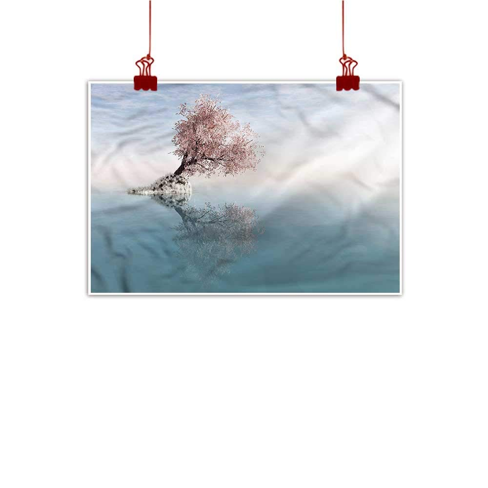 color01 48 x32  (120cm x 80cm) Mangooly Wall Painting Prints Tree,Lonely Tree in Water Home Decor Prints Posters