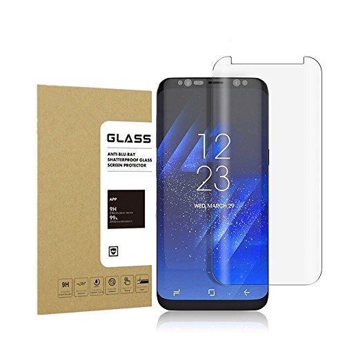 Galaxy S8 Plus Panzerglas Schutzfolie Acoverbest [Ultra Transparenz] [Full HD] [Einfache Installation] [Anti-Fingerabdruck] 9H Härtegrad Displayschutzfolie Schutzglas Für Samsung Galaxy S8Plus