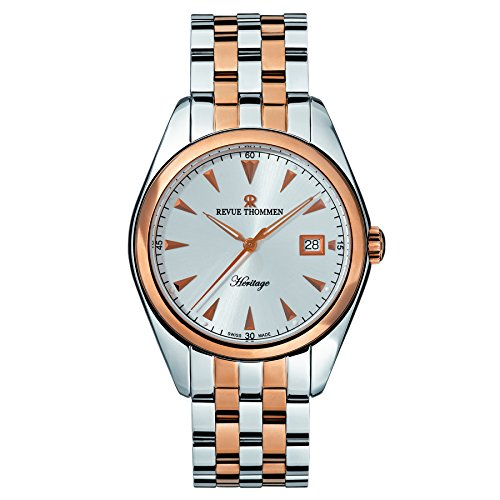 Revue Thommen Men's 21010-2152 Heritage Analog Display Swiss Automatic Two Tone Watch
