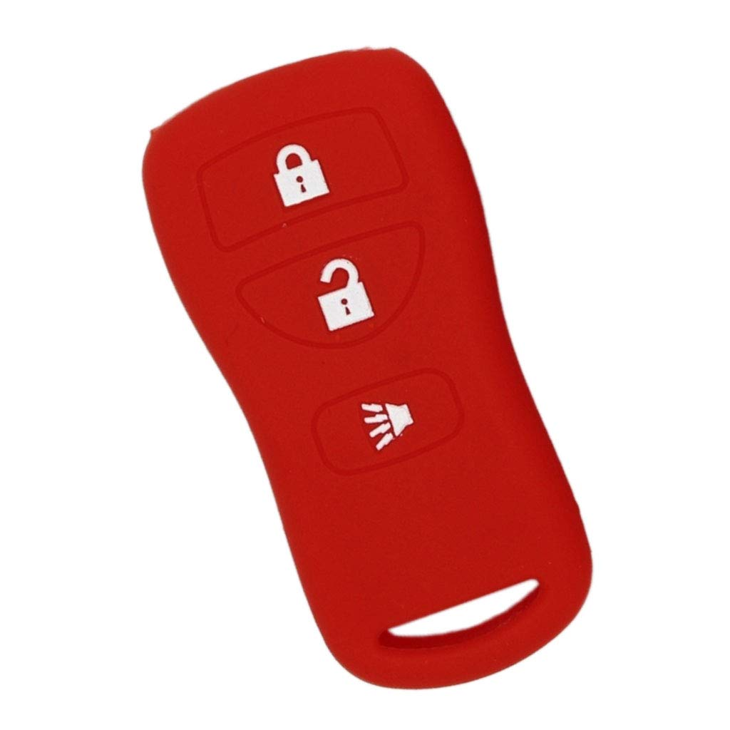 D DOLITY Sillicone Key fob Skin Key Cover Remote Case Protector Shell for Nissan - Grey