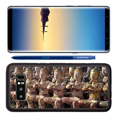 Luxlady Premium Samsung Galaxy Note8 Aluminum Backplate Bumper Snap Case IMAGE ID: 25758264 Musicants statues in the seaside temple on the beach in Rayong - Temples Anatomy