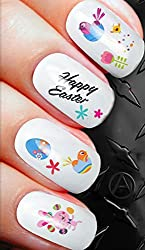 happy easter bunny rabbit easter eggs and more nail decals alterNAILtive transfers D85 - nail art